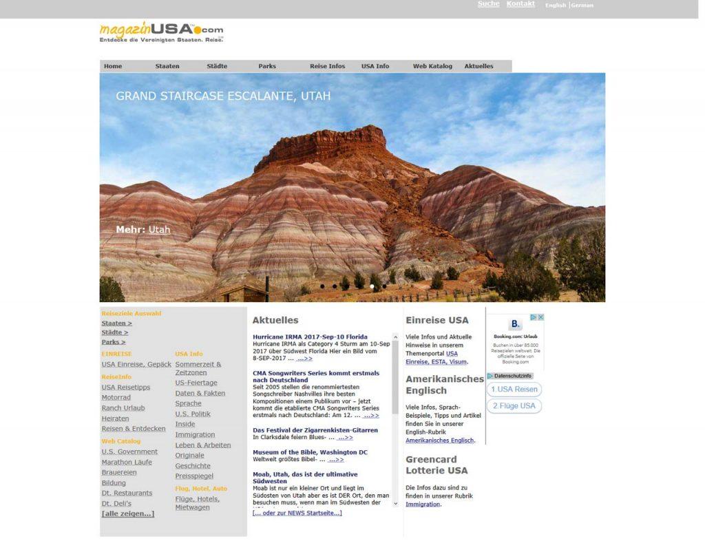 Online Travel Magazine magazinUSA.com